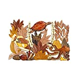Hawaiian Style Wood Wall Hanging Sea Life With Coral Turtle Nemo & Octopus