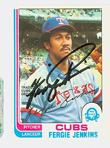 Ferguson Jenkins AUTOGRAPH 1982 O-PEE-CHEE Chicago Cubs ()