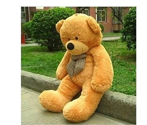 47'' Giant Big brown Teddy Bear PLUSH TOYS COVER SHELL (WITH ZIPPER) Xmas gift - Ocelot Faux Fur