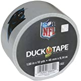 Duck Brand 281541 Carolina Panthers NFL Team Logo Duct Tape, 1.88-Inch by 10 Yards, Single Roll