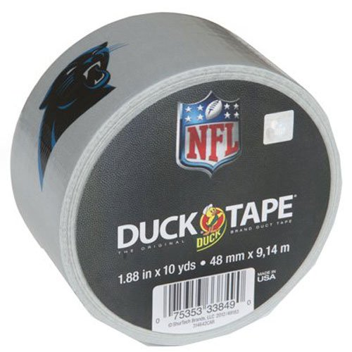 (Duck Brand 281541 Carolina Panthers NFL Team Logo Duct Tape, 1.88-Inch by 10 Yards, Single)