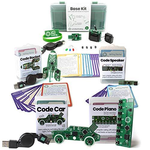 Bundle: Base Kit + Car + Rocket + Piano + Speaker | Coding Kits for Kids 8-12 | Bundle and Save! by Let's Start Coding (Image #9)