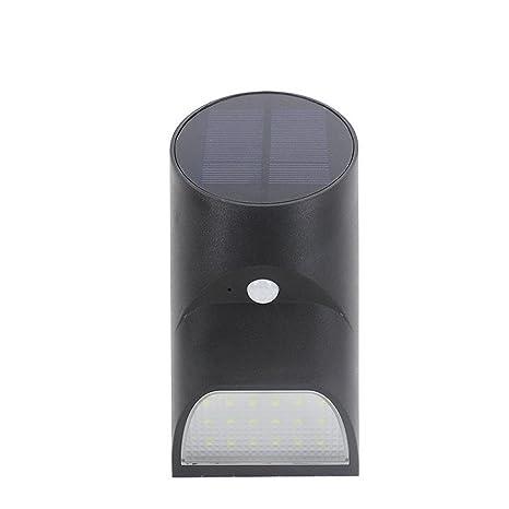 Lámpara solar para exterior con detector de movimiento, 100 Lúmenes, escaleras, valla,