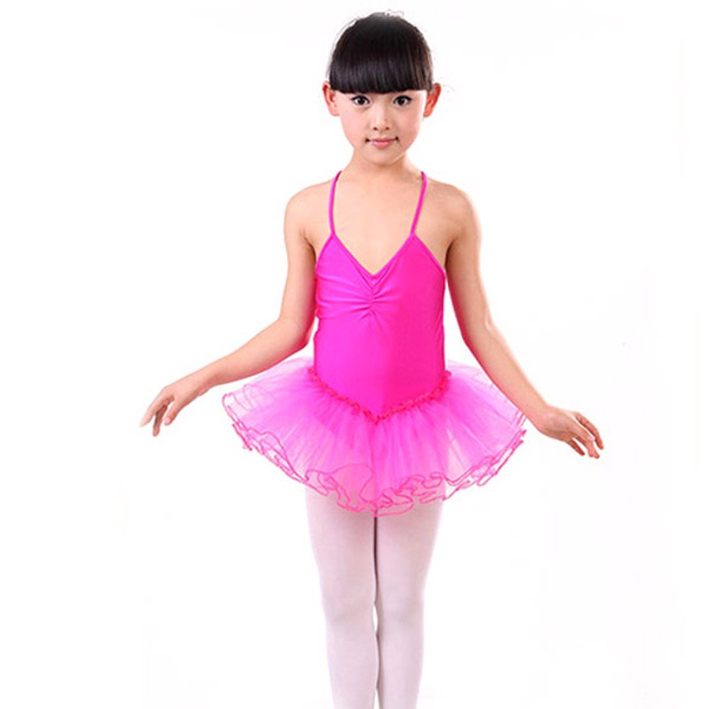 Luxsea Girls Ballet Dancewear Sleeveless Cotton Tank Skirted Leotard Dress