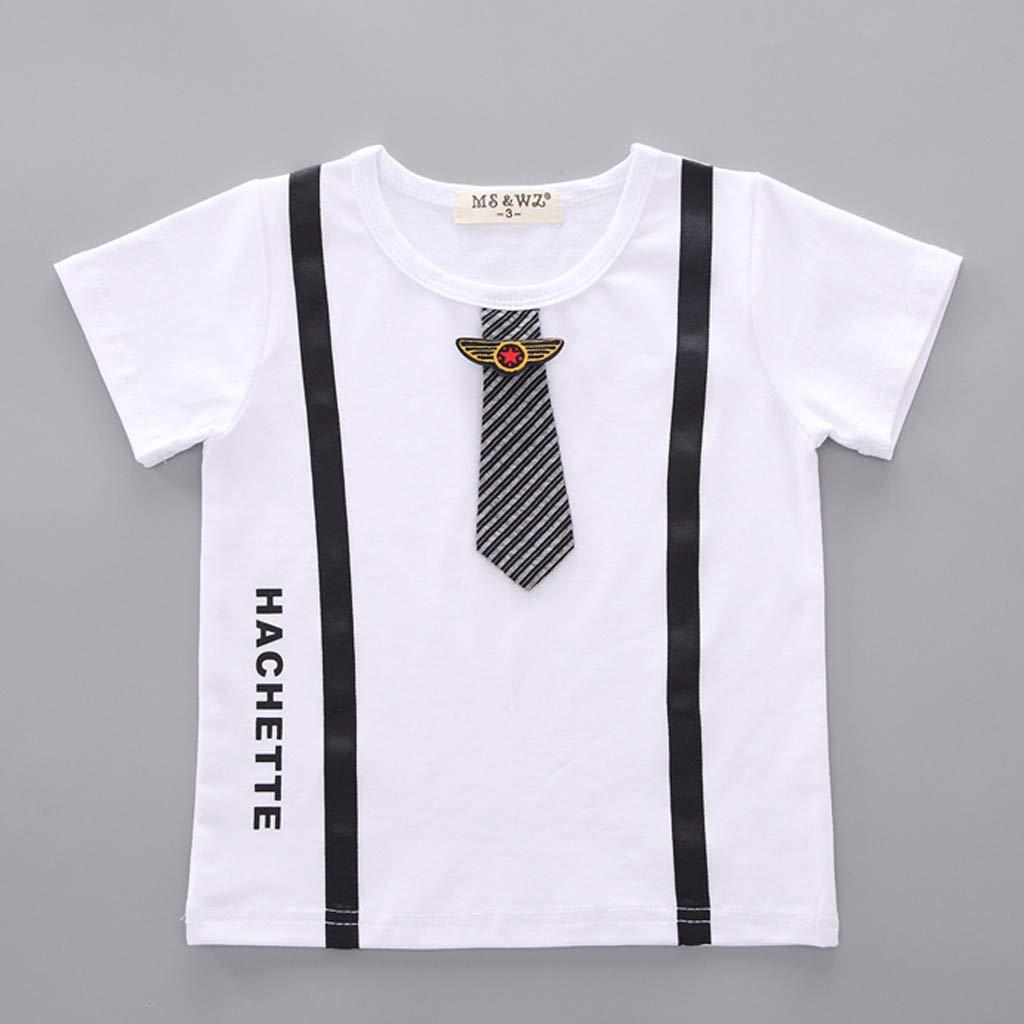 Strisce Pantaloncini Abiti Set VICGREY Neonato Bambino Ragazzi Camicia Gentiluomo Cravatta Cime T Shirt Maglietta Bambino Cotone T-Shirt Manica Corta