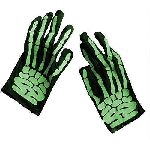Party DIY Decorations - Halloween Cosplay Gloves Horrible Skeleton Finger Bone Ghost Claw Printed Elastic Scary Costumes - Party Decorations Party Decorations Skeleton Crow Sksk Phone Holder A -
