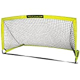 Franklin Sports Black Hawk Soccer Goal - Portable Soccer Net - 9 Ft by 5 Ft - Collapsible Pop Up Backyard Soccer Goal - Kids Soccer Net - Easy to Assemble
