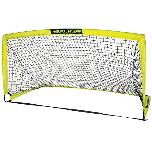 (Franklin Sports Blackhawk Portable Soccer Goal - Pop-Up Soccer Goal and Net - Indoor or Outdoor Soccer Goal - Goal Folds for Storage - 9' x 5'6