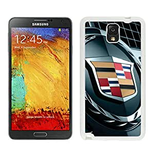 Unique Samsung Galaxy Note 3 Screen Case ,Popular And Durable Designed Case With Cadillac logo 1 White For Samsung Galaxy Note 3 Phone Case Great Quality Cover Case