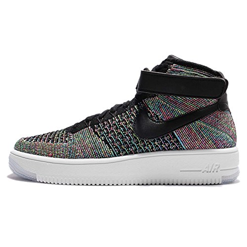 white AIR MID 1 Flyknit Blast Force 817420 Nike Black Pink 101 ApPwqfpFW