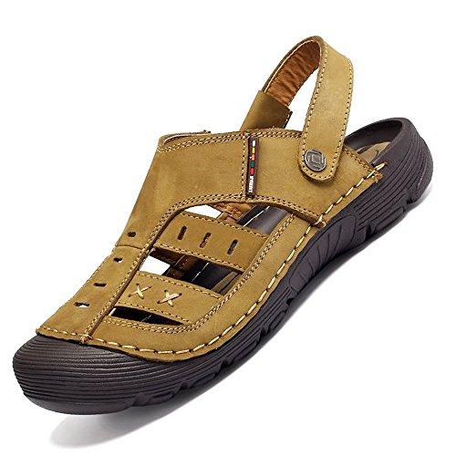 viaggiare acqua per shoes uomo in Sandali da camminare I per da resistenti estivi scarpe l'alpinismo e 2018 spiaggia sandali all'aperto da Uomo Cachi pelle all'impatto all'aperto vera Xujw sono casual wpqSHw