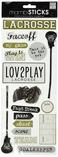 me & my BIG ideas Self-Adhesive Designer Chipboard, Lacrosse