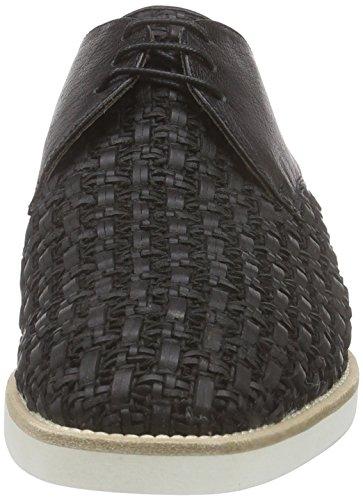PolliniSCARPAU.MICRO25BI+CA INTR+BUF.NERO - Zapatos Planos con Cordones mujer Negro