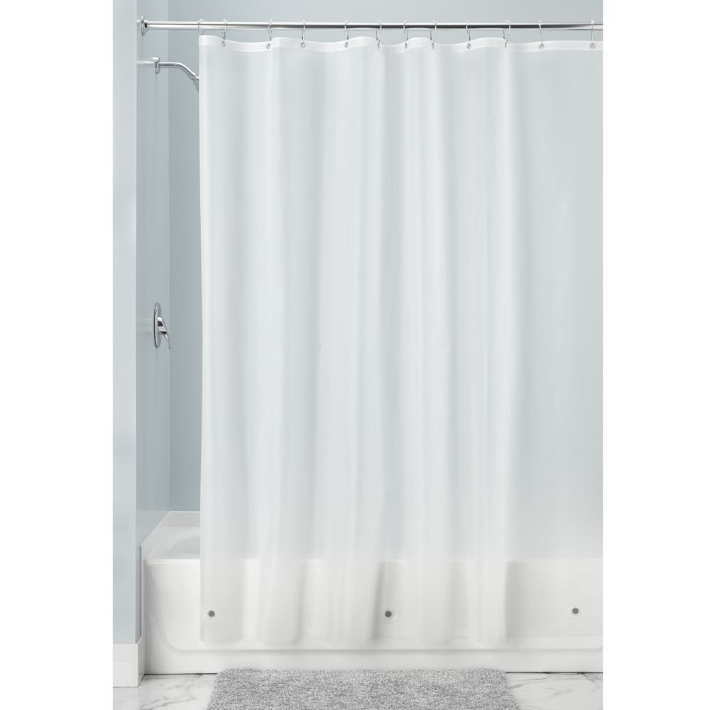 InterDesign PVC-Free PEVA 10-Gauge Heavy-Duty Shower Curtain Liner - Stall, 54