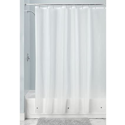InterDesign Mildew Resistant Antibacterial 10 Gauge Heavy Duty Shower Curtain Liner