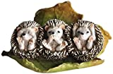 Top Collection Miniature Fairy Garden and Terrarium Three No Evils Baby Hedgehogs Statue