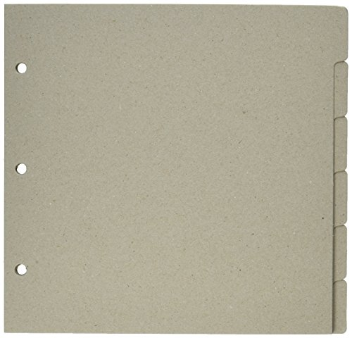 Tabbed Chipboard Album - Bo Bunny 3-Ring Bare Naked Binder Pages 9-Inch by 9-Inch, 6/Pkg