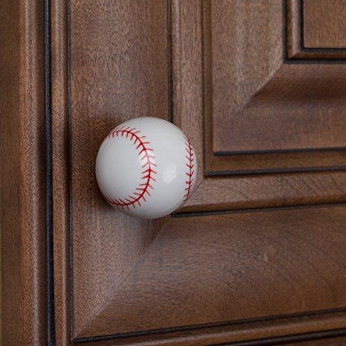 GlideRite Hardware 1001-BB-10 Baseball Sports Cabinet Dresser Knobs 10 Pack by GlideRite Hardware (Image #2)