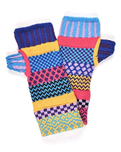 Solmate Socks, Mismatched Fingerless Mittens Gloves Made in the USA, Combo ()