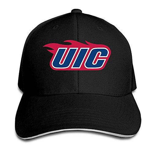 Uic Flames Logo Flex Baseball Cap Black