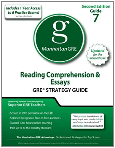 com reading comprehension essays gre strategy guide nd  reading comprehension essays gre strategy guide 2nd edition manhattan gre strategy guides original edition