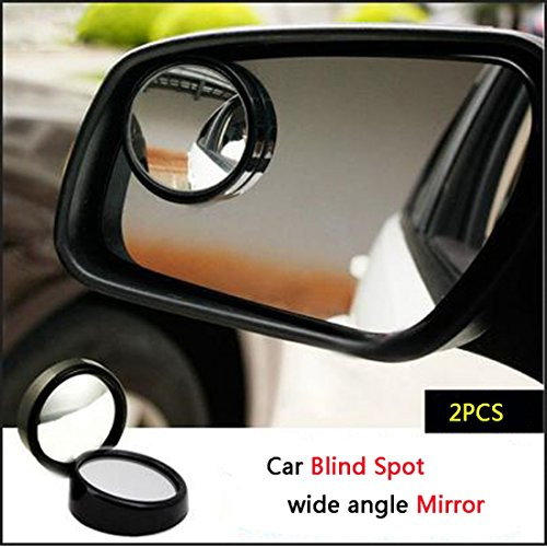?From USA?3R-012 50mm Glass and Plastic Car Blind Spot Mirror Black Border (Pair) (Disney Rear View Mirror Ornament)