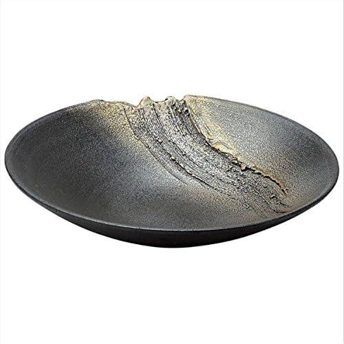 Shigaraki Japanese Ceramic Ware. Ikebana Flower vase. Suiban. Hugetsu. 1-2624