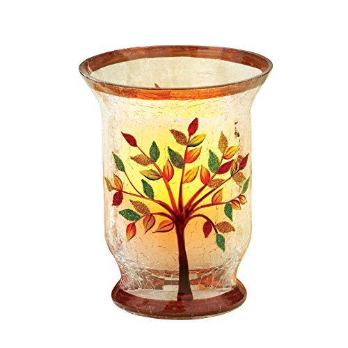 Autumn Tree Hurricane Candle Holder