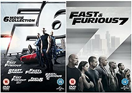 The Complete Fast And Furious 1 7 DVD Movie Collection 2 3 Tokyo Drift 4
