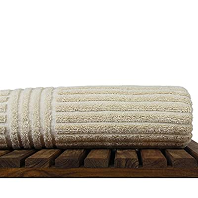 Bare Cotton 852-1501-01 Luxury Hotel & Spa Ribbed Channel Pattern Bath Towel