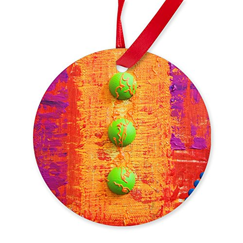 Round Ornament Abstract Peace Symbol Sign (Andy Warhol Ornaments)
