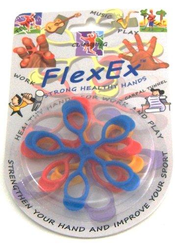 FlexEx 0001 Finger, Hand and Forearm Exerciser, Pack of 3