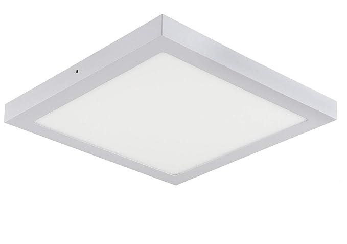 Plafoniera Led Rettangolare : Plafoniera a led da 24 w bianco caldo 1850 lumen 300 x mm