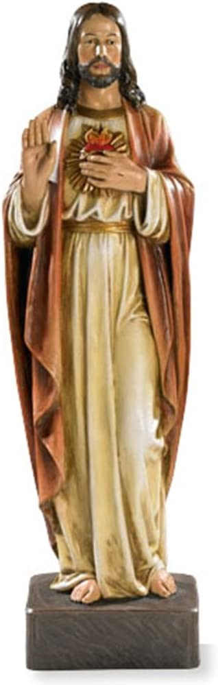 The Sacred Heart of Jesus Christ Resin Statue, 22 3/4 Inch