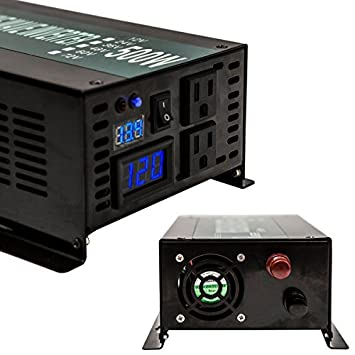 Reliable Off Grid 3500W Pure Sine Wave Inverter 12VDC to 120VAC Solar Power Inverter LED Display Black