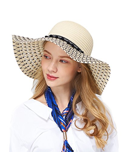 EUPHIE YING Women's Wide Brim Sun Hats UPF 50+ Summer...