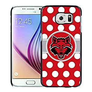 NCAA Arkansas State Red Wolves 10 Black Samsung Galaxy S6 Protective Phone Cover Case