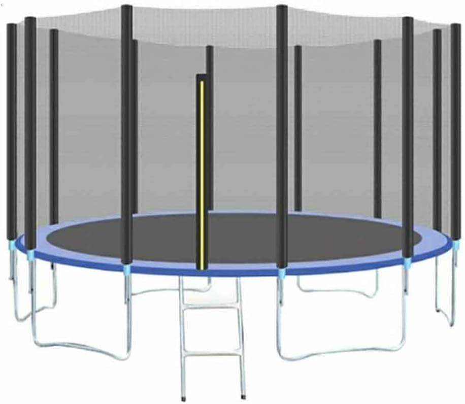 Trampolín para Exteriores con Red de Seguridad y Estera de Salto de Escalera, diámetro de 150 cm, Cama elástica de jardín