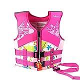 Kids Swim Vest, Swim Jacket, Neoprene Floatation Vest, Girls, Pink, M/5-6 Years
