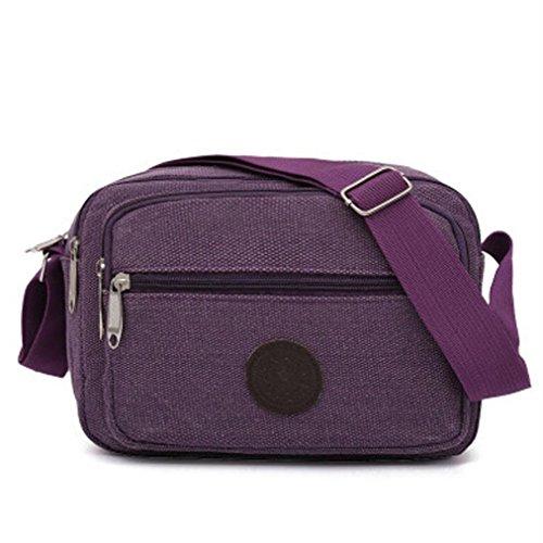 Men Bag Messenger Handbag Crossbody Bag Hometom Shoulder Outdoor Shoulder Canvas Women Purple FSdnASxZ