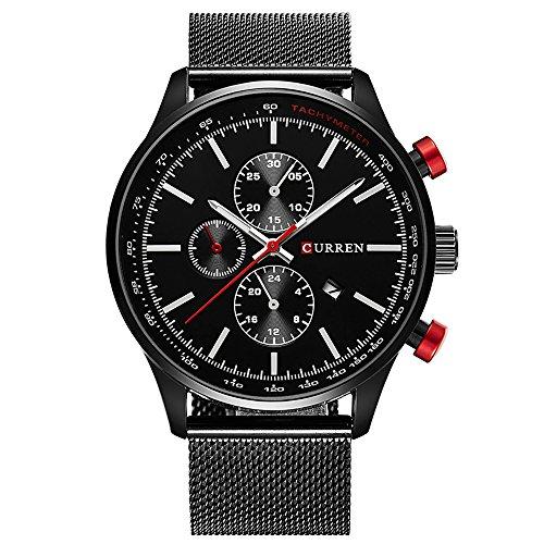 CURREN Watches Mens Brand Stainless Steel Quartz Watch Men Casual Waterproof Clock Men Sport Wristwatch