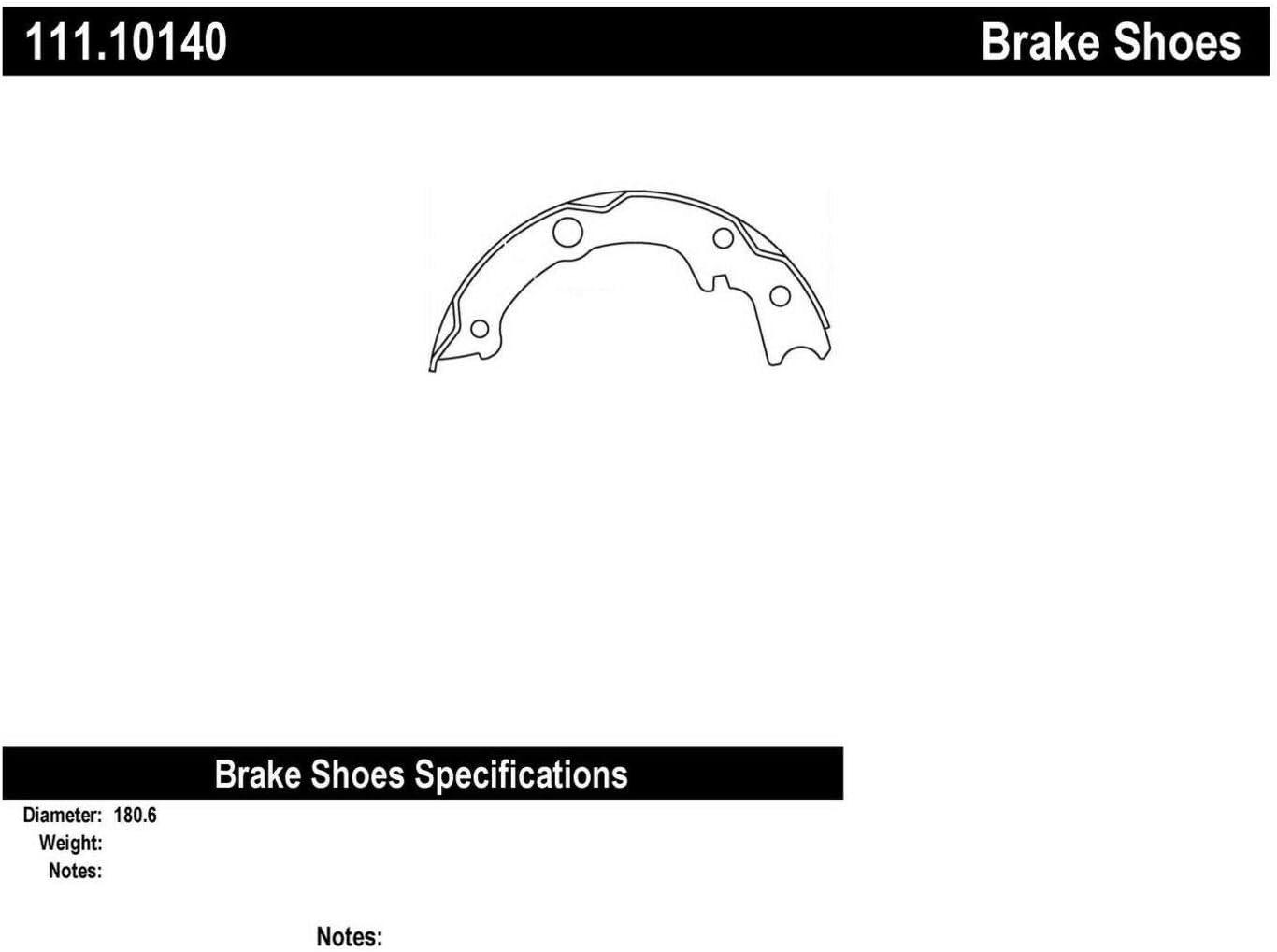 111.10140 Centric Brake Shoe