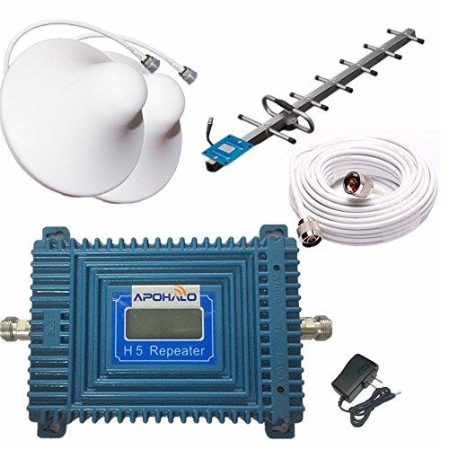 apohalo 70dB teléfono celular 3G 4G LTE CDMA 850MHz Repetidor Booster Amplificador de la señal con 2Antena de techo...