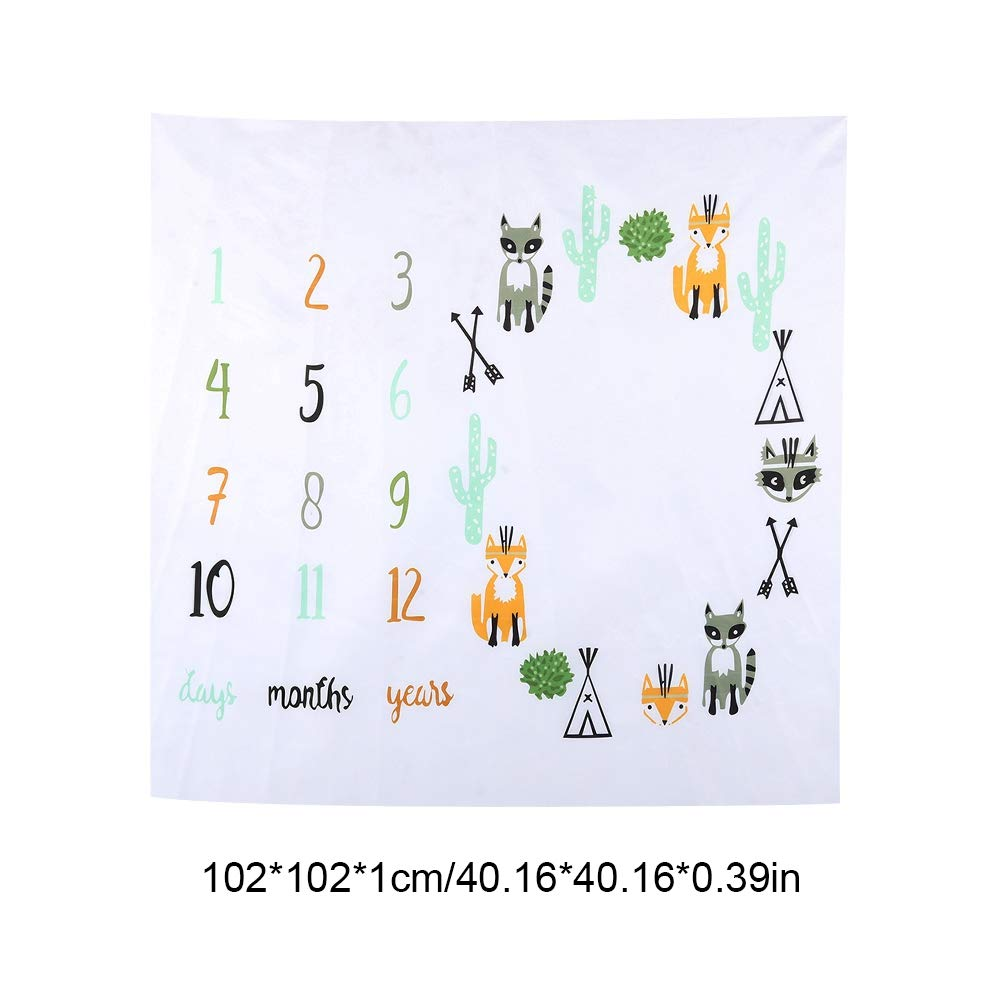 Newborn Photography Props Baby Milestone Blanket Growth Record Blanket for New Baby Boys and Girls