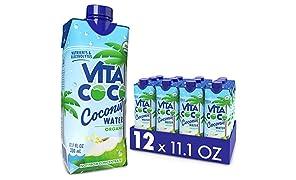 Vita Coco Coconut Water, Pure Organic | Refreshing Coconut Taste | Natural Electrolytes | Vital Nutrients | 11.1 Oz (Pack Of 12)