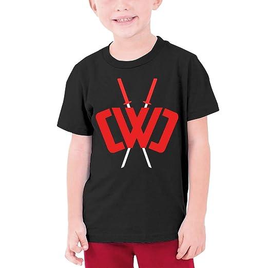 2fafe7983d4a Youth Fashion Chad Wild Clay Custom T-Shirt Boy Girl Colorful Tops (Black,)