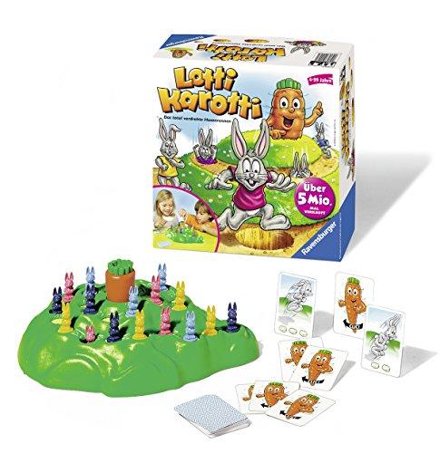 Ravensburger Lotti Karotti, Gesellschafts- und Familienspiel für Kinder und Erwachsene, Partyspiel für Kindergeburtstage, 2-4 Spieler, ab 4 Jahren 4