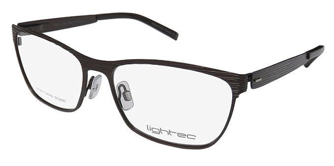 c39c815a8e Amazon.com  Lightec By Morel 7748l For Ladies Women Cat Eye Full-Rim Shape  Flexible Hinges Stainless Steel Fashionable Eyeglasses Eyewear (53-15-135