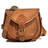 Handcraft's Pure Leather Vintage Brown Sling Bag | CrossBody Bag | Satchel Bag | Adjustable Shoulder Strap Bag For Women 9 Inch (Small)