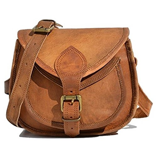 Handcraft's Pure Leather Vintage Brown Sling Bag | CrossBody Bag | Satchel Bag | Adjustable Shoulder Strap Bag For Women 9 Inch (Small) by Handcraft